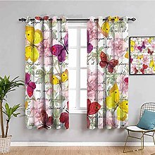 LucaSng Cortinas de Opacas - Color Mariposa Flor