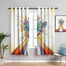 LucaSng Cortinas de Opacas - Color Moda Flor
