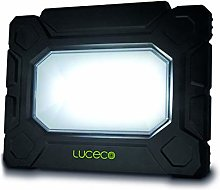 Luceco Foco LED con batería, Negro/Verde