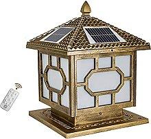 Luces de Gorra de Poste Solar al Aire Libre,