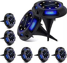 Luces de Tierra solares Luces de Disco LED de 8