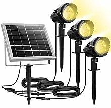 Luces Solares Jardín MEIKEE 3 en 1 LED Foco con