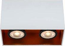 Lucide Bido - Foco de techo (2 bombillas GU10),