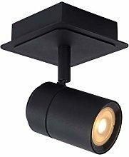 Lucide - Foco de techo (5 W, metal), color negro