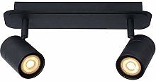 Lucide - Foco de techo, metal, 10 W, color negro
