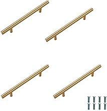 LUOFEIYU Tirador dorado para armario o cajón, 4