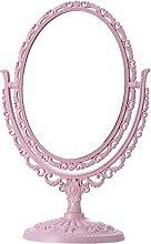 Lurrose Espejo cosmético Ovalado Vintage, tocador