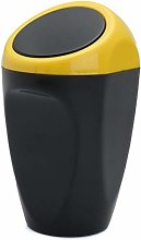 LUYOYO Mini cubo de basura amarillo para basura de