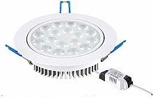 Luz de trabajo Foco blanco Foco empotrable LED