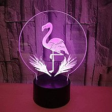 Luz nocturna 3D Deco LED Lámpara Flamenco