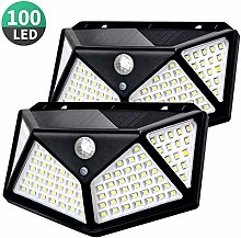 Luz Solar Exterior, T-SUN 100 LED Foco Solar con