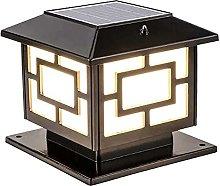 Luz Solar LED, Lámpara de Pilar Post Impermeable
