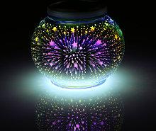 Luz solar que cambia de color, lampara de bola de