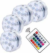 Luz subacuática LED para piscina con mando a