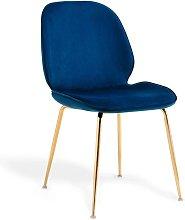 Lúzete - Silla Ashcroft Terciopelo Azul