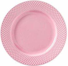 Lyngby - Plato de porcelana (21 cm), color rosa