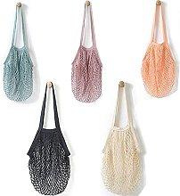 Lzpzz 5pcs Net Shopping Bag Reusable Net Shopping