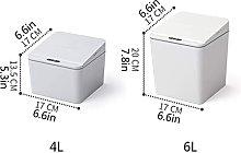 LZQBD Botes de Basura, Cubo de Basura Cuadrado de