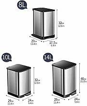 LZQBD Cubos de Basura, Cubo de Basura con Pedal de