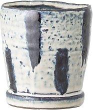 Maceta de gres azul Bauzy