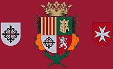magFlags Bandera Large Silla Valencia Fondo Rojo