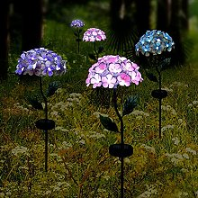 MagiDeal Luces solares para jardín, estacas de