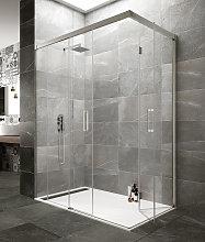 Mampara de ducha angular Tandem -GME- (1 fijo + 1