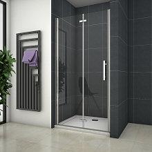 Mampara de ducha Apertura de Puerta Plegable 6mm