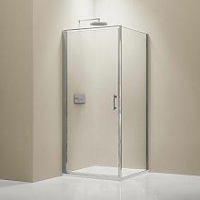 Mampara de ducha de esquina EX416 - de cristal