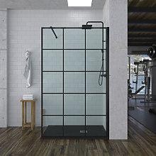 Mampara de ducha Fija con Estilo Industrial -