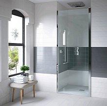 Mampara de ducha frontal Clean puerta abatible