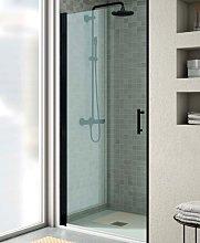 Mampara de ducha Milán de perfil negro -Torvisco-
