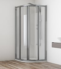 Mampara de ducha semicircular Orinoco -Hidroglass-