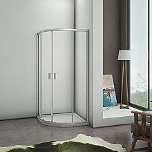 Mampara de ducha Semicirular con Puertas