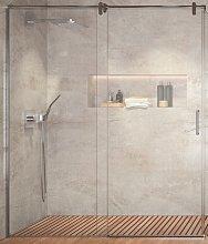 Mampara de ducha Slim -Kassandra- (1 fija + 1