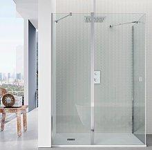 Mampara ducha Clean; frontal 1 fija + 1 puerta