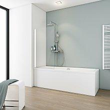 Mampara para bañera plegable, 70 x 130 cm,