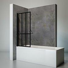 Mampara para bañera plegable, 75 x 140 cm,