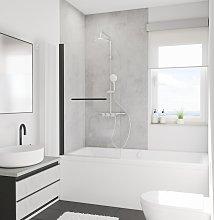 Mampara para bañera plegable, 80 x 140 cm,