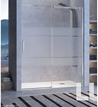 Mampara puerta corredera para ducha decorado Clio