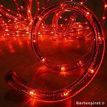 Manguera luminosa LED, cable LED, rojo, 9 m,