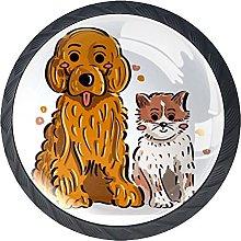 Manija De La Cocina Cachorro Y Gatito Tirador De
