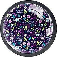 Manija De La Cocina Flor Púrpura Tirador De