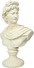 Mankvis Escultura De Estatua De Apolo, Resina Sol