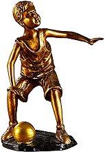 Mankvis Escultura De Estatua De Capitán De