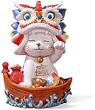 Mankvis Escultura De La Estatua del Gato Casero,