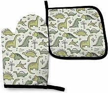 Manoplas y agarraderas de horno de dinosaurios en