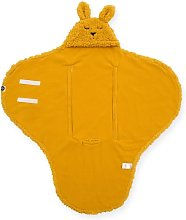 Manta arrullo de bebé Bunny color mostaza -