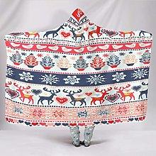 Manta con capucha con diseño de ciervo para