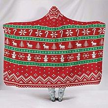 Manta con capucha con diseño de Navidad,